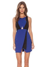 Sweet Blue Dress in Klein Blue & Black