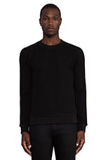 Tornt Sweater in Black