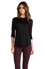 Synchronize Lazer Shirt in Black
