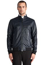 Viek L Leather Jacket in Eclipse