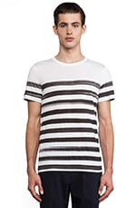 Andrion Stripe Tee in White