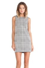 Theory Adraya Plaid Jacquard Dress in Black & White