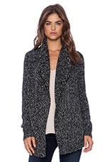 Winxie G Cardigan in Charcoal & White