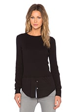 Mikaela Thermal Pullover in Black