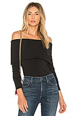 Theory Off The Shoulder Jersey Top in Black