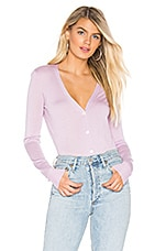 Theory Foundation V Neck Cardigan in Pink Lilac