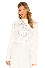 Theory Mesh Knit Sweater in Natural