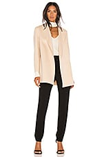 Theory Clairene Coat in Pink Ivory