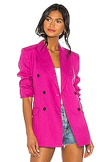 Theory Double Tailor Jacket in Pop Fuchsia
