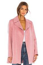 Theory Overlay Df Coat in Winter Pink Melange
