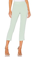 Theory Basic Pull On Pant in Opal Green