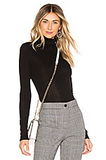 Theory Luxe Rib Turtleneck in Black