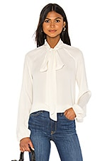 Theory Scarf Top Classic Blouse in Ivory