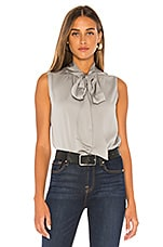Theory Tie Scarf Top in Grey Violet