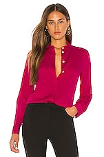 Theory Classic Fitted Shirt in Magenta