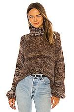 The Range Fog Mohair Knit Turtleneck Sweater in Whiskey Gradient