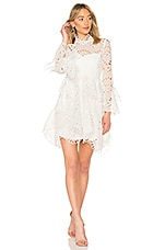 THURLEY Leo Embroidered Dress in Ivory