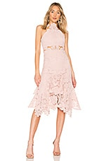 THURLEY Waterlilly Midi Dress in Nude Ivory