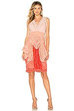 THURLEY La Rambla Midi Dress in Red Ombre