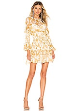 THURLEY Inca Mini Dress in Buttermilk Multi