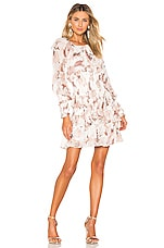 THURLEY New Moon Dress in Folklore Chintz & Gold Spot Ivory