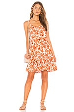 Tiare Hawaii Channing Mini Dress in Frangipani Peach