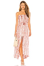 Tiare Hawaii Ryden Dress in Hail Rust & White