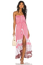 Tiare Hawaii Ryden Dress in Casa Rose Mauve Tie Dye