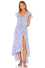 Tiare Hawaii New Moon Maxi in Fan Shells Blue