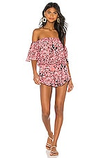 Tiare Hawaii Convertible Romper in Stained Negative Pink Grey