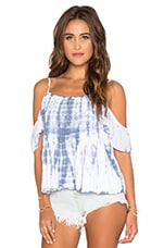 Somerset Top en Tie & Dye Bleu