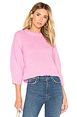 Tibi Pullover Sweater in Deep Pink