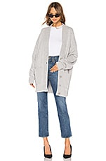 Tibi Oversized Cashmere Cardigan Coat in Heather Grey