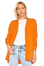Tibi Easy Cardigan in Tangerine