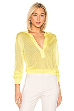 Tibi Mesh Pullover Sweater in Citron