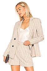 Tibi Tropical Suiting Blazer in Hazelwood Multi