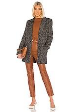 Tibi Multicolor Tweed Long Blazer in Black Multi
