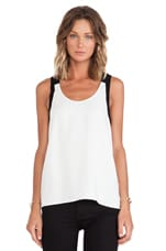 Arden Crepe Colorblock Tank in Ivory Multi