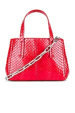 Tibi Le Client Chain Ayers Water Snake Mini Bag in Red