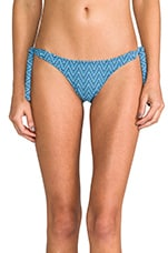 Sea Blues Tribal Abbey Bikini Bottom in Sea
