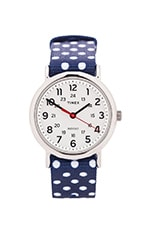 The Weekend 38mm Reversible in Navy & White Dots
