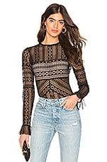 Thistle & Spire Jane Lace Bodysuit in Black