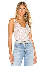 Thistle & Spire Marion Crochet Lace Bodysuit in Ivory