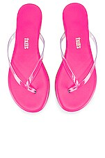 TKEES Clear Neon Flip Flop in Pink Lil