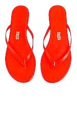 TKEES Neons Flip Flop in Orange Neons