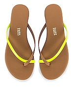 TKEES Riley Neon Flip Flop in Yellow Riley Neon