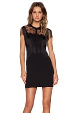 The Kooples Fringe Lace Dress in Black