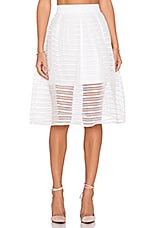 Twist Midi Skirt in White