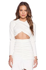 The Lover Crop Top en Blanc