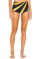 TM Rio de Janeiro Milagres Bikini Bottom in Black & Gold Sunset